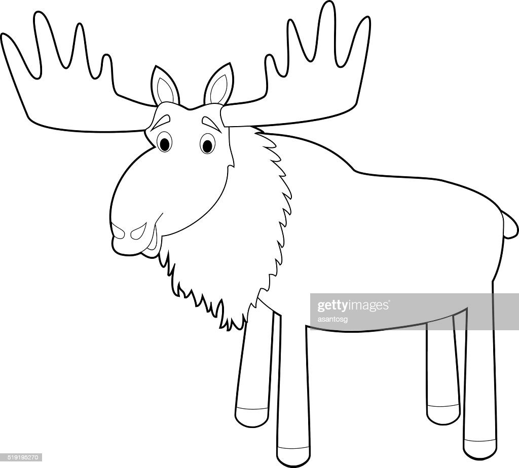 Easy Coloring Animals for Kids: Moose