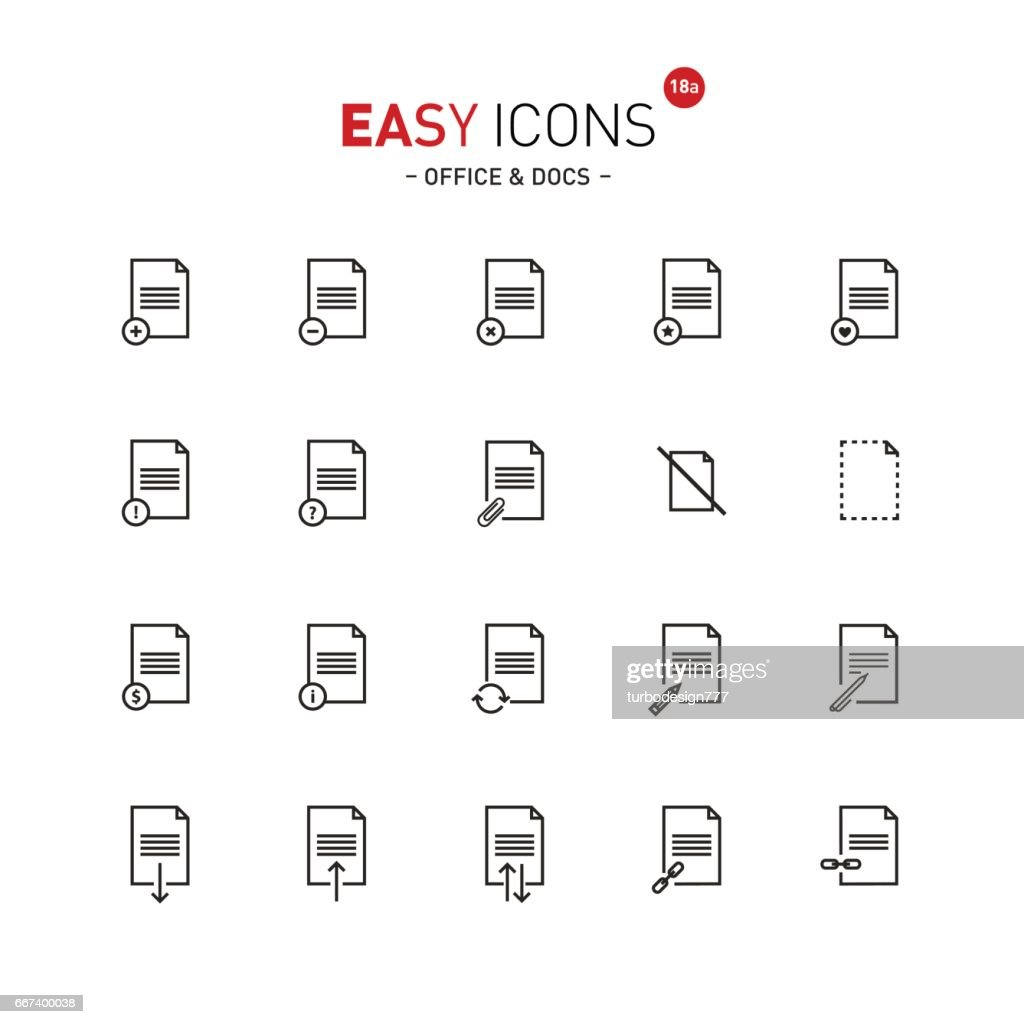 Easy icons 18a Docs