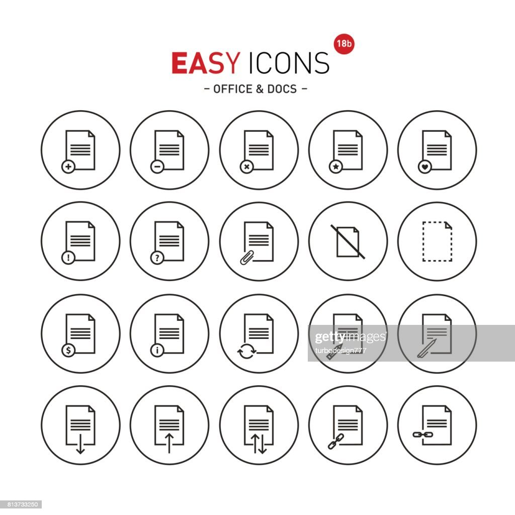 Easy icons 18b Docs