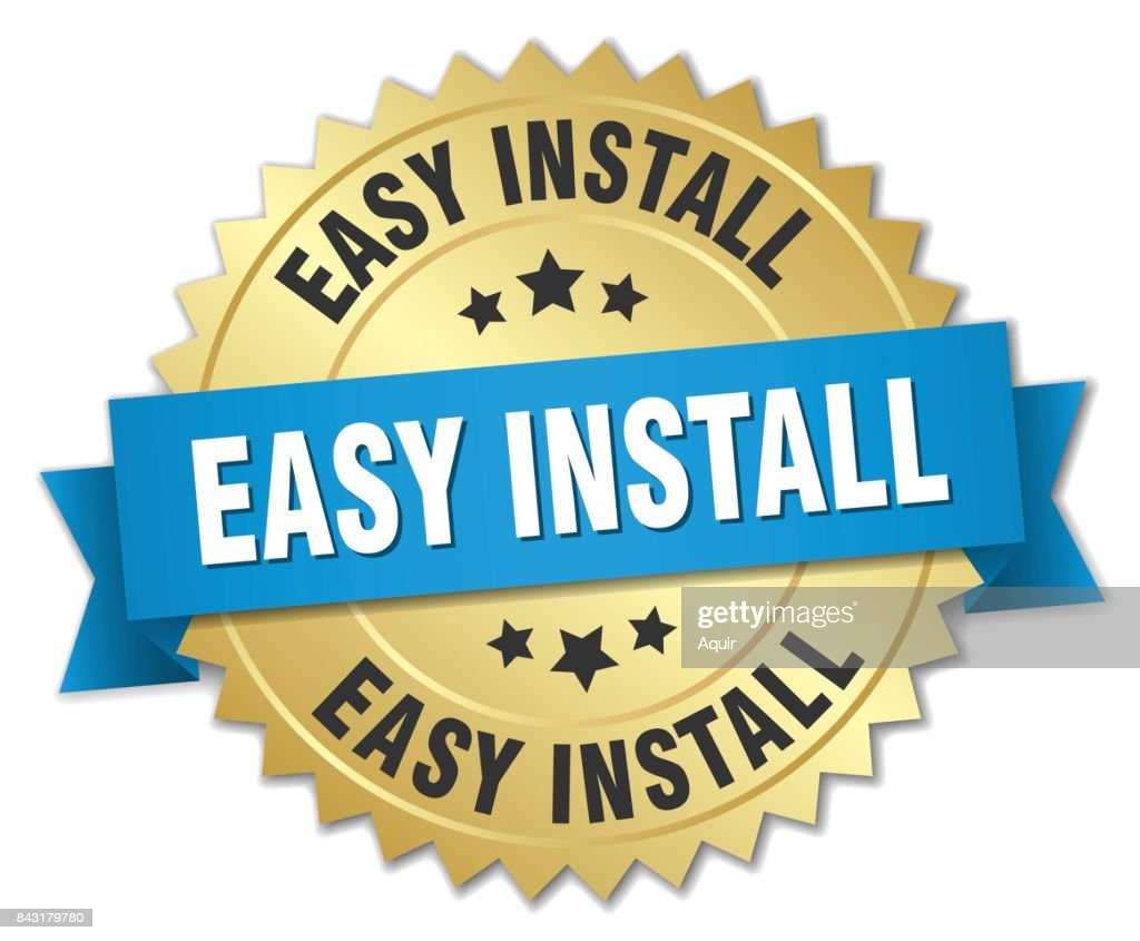 easy install round isolated gold badge