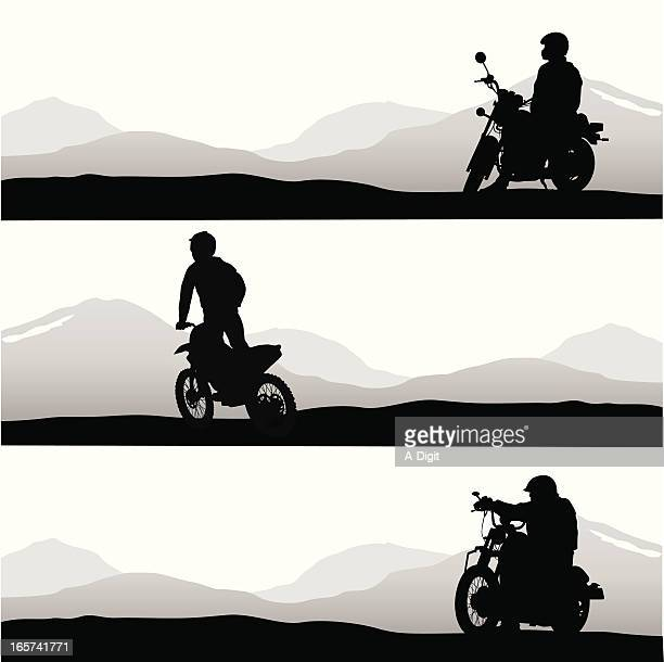 Easy Riding Vector Silhouette