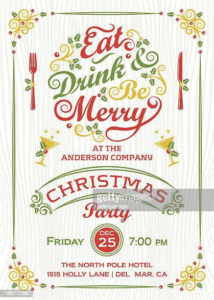 Eat, Drink, and Be Merry Christmas Party