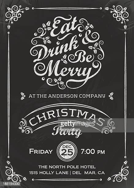 eat, drink, and be merry invitation - drink stock illustrations