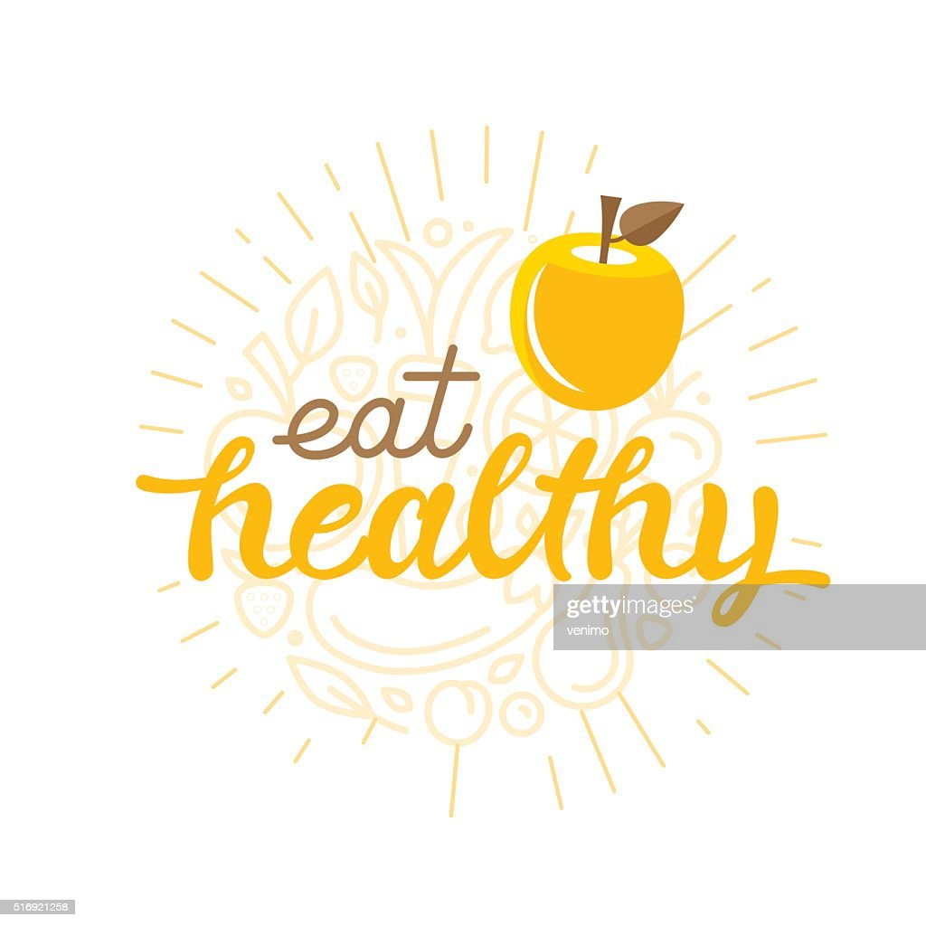 Eat healthy - motivational poster