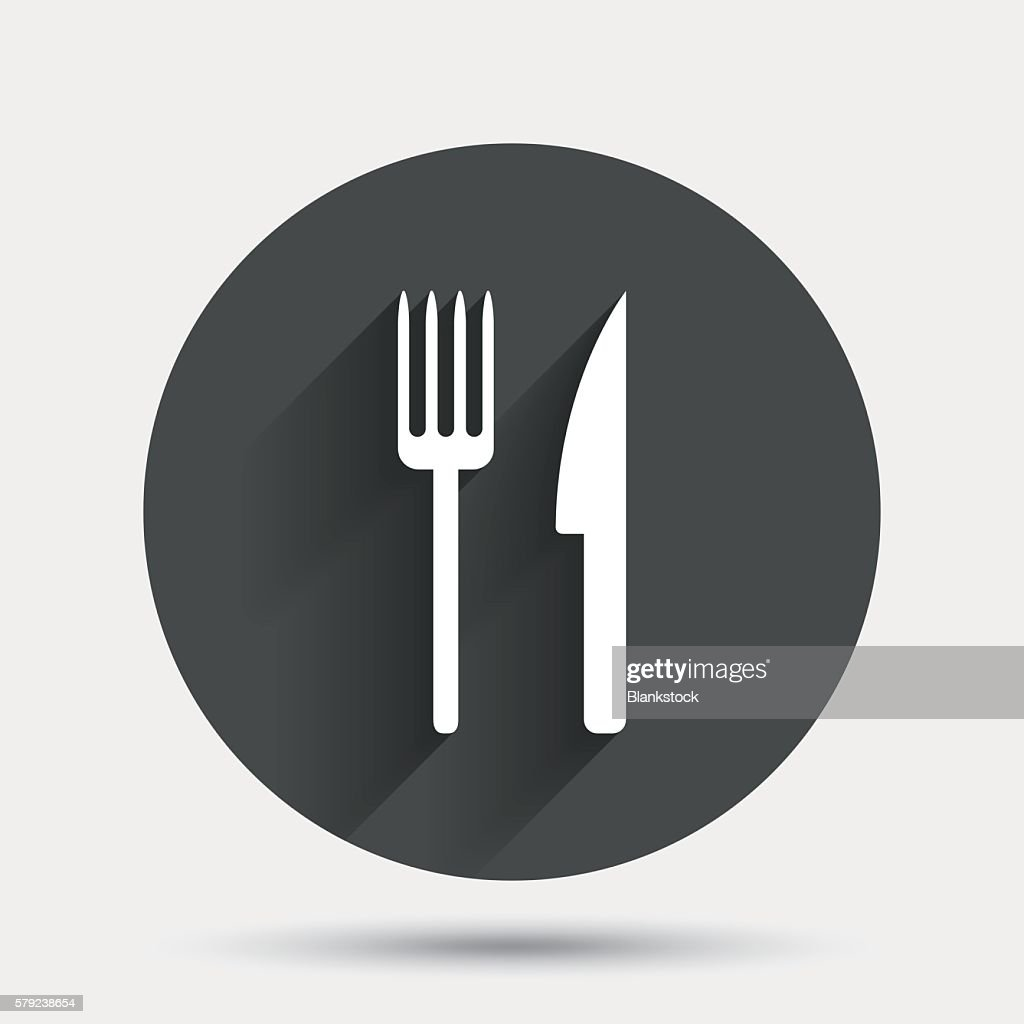 Eat Sign Icon Cutlery Symbol Fork And Knife Vector Art Getty Images