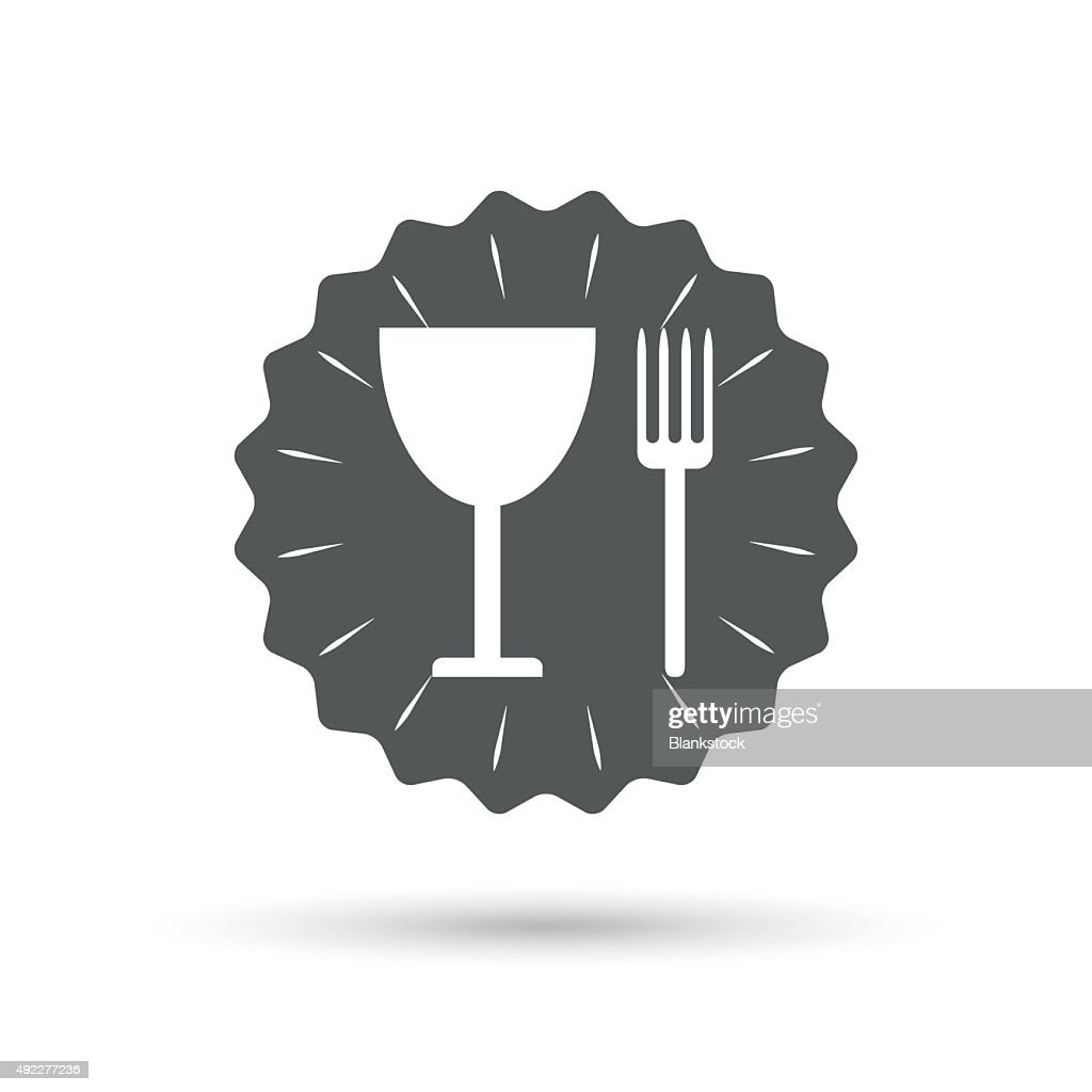 Eat Sign Icon Cutlery Symbol Fork And Wineglass Vector Art Getty