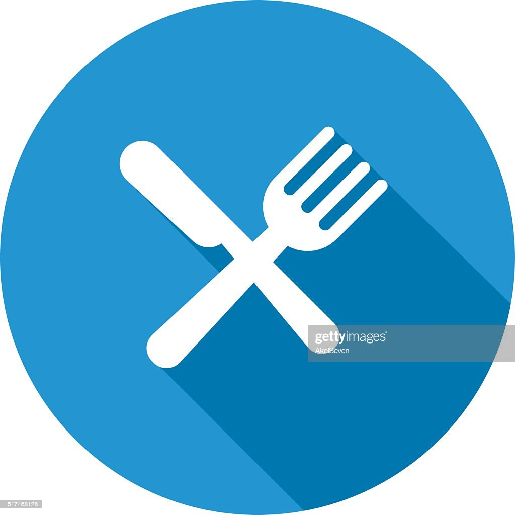 Eat sign icon.