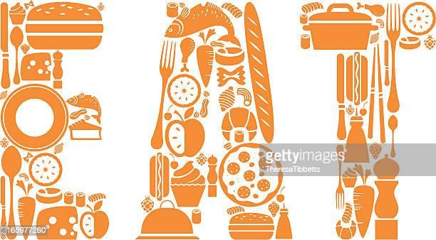 eat - meat pie stock illustrations