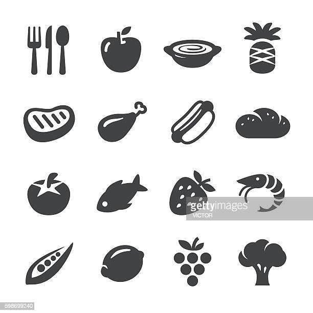 eating icons - acme series - broccoli stock illustrations, clip art, cartoons, & icons