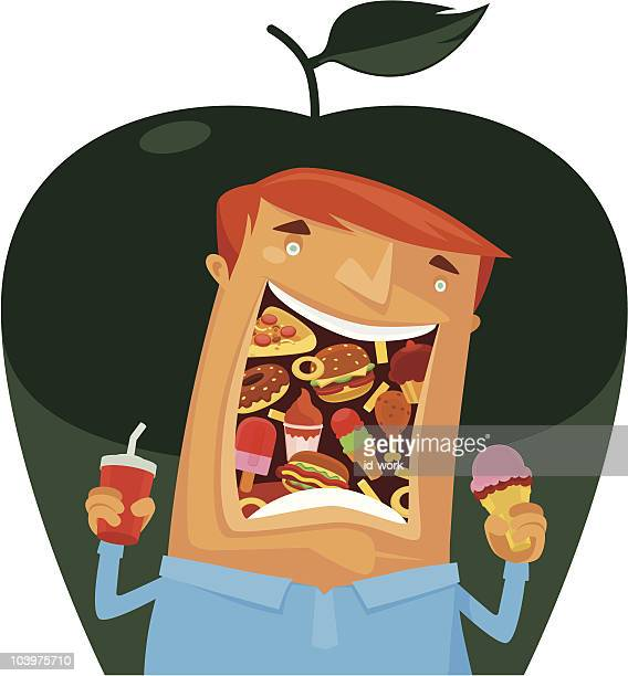 eating - eating ice cream stock illustrations, clip art, cartoons, & icons