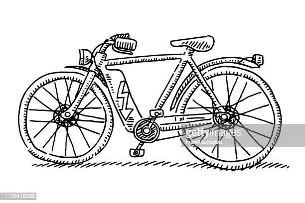 E-Bike Seitenansicht Zeichnung