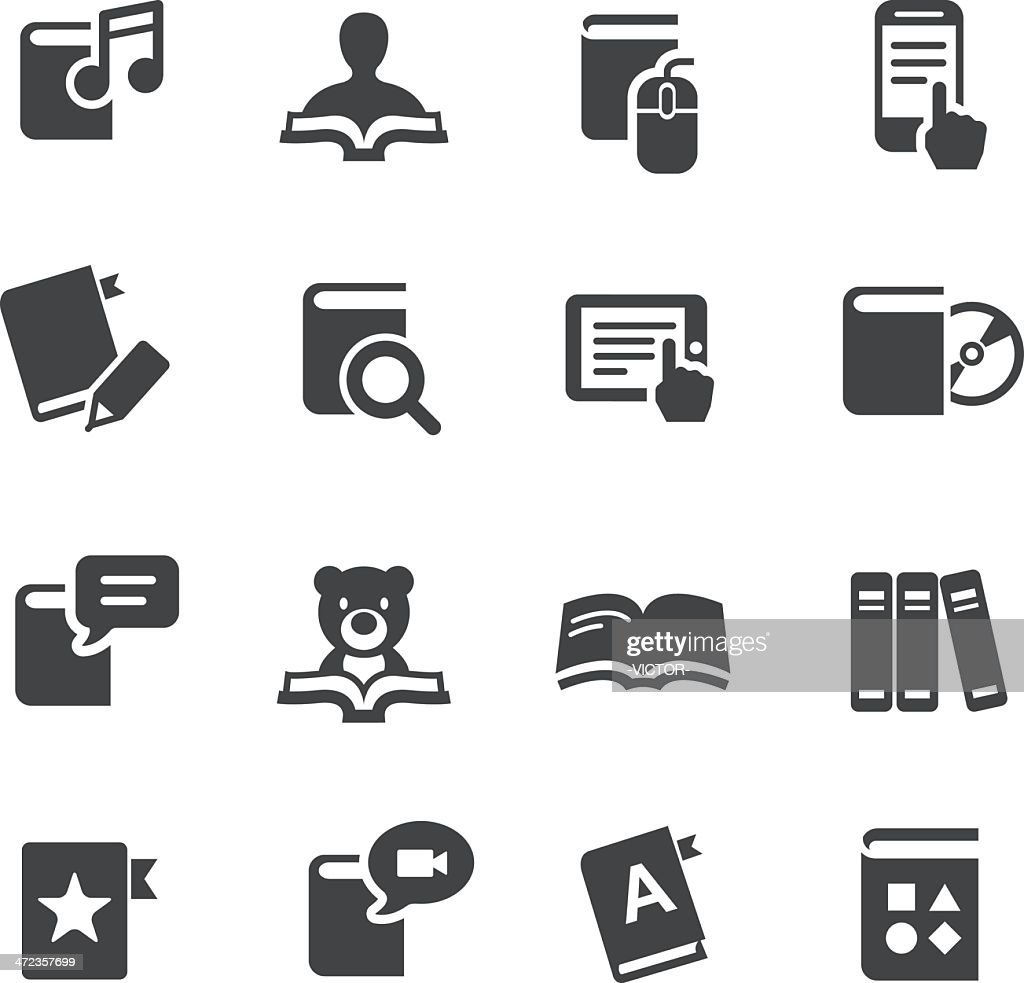 eBook and Literature Icons - Acme Series : stock illustration