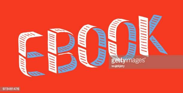 ilustraciones, imágenes clip art, dibujos animados e iconos de stock de ilustración de concepto de ebook - libros volando