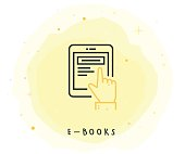 E-Book Icon with Watercolor Patch