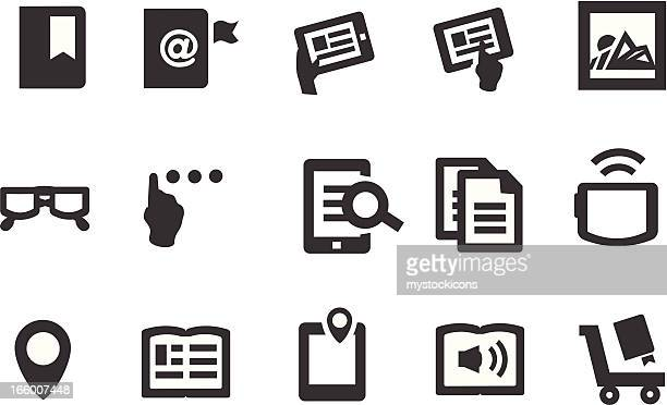 e-book icons - braille stock illustrations, clip art, cartoons, & icons