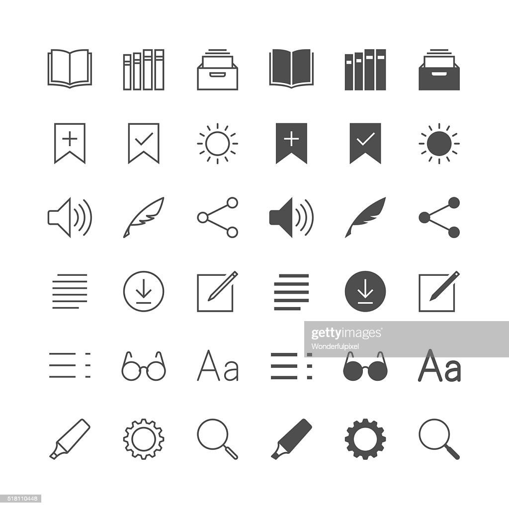 E-book reader icons