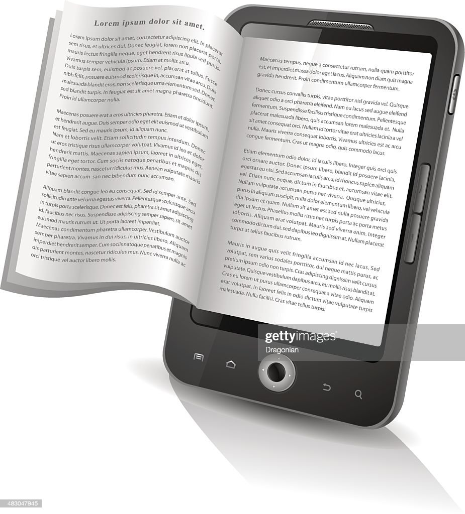 E-book reader : stock illustration