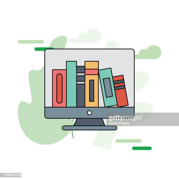 e-books - library stock illustrations