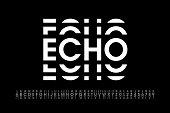 Echo style modern font