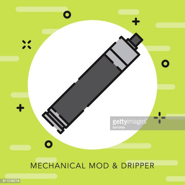 e-cigarette open outline vaping icon - electronic cigarette stock illustrations, clip art, cartoons, & icons