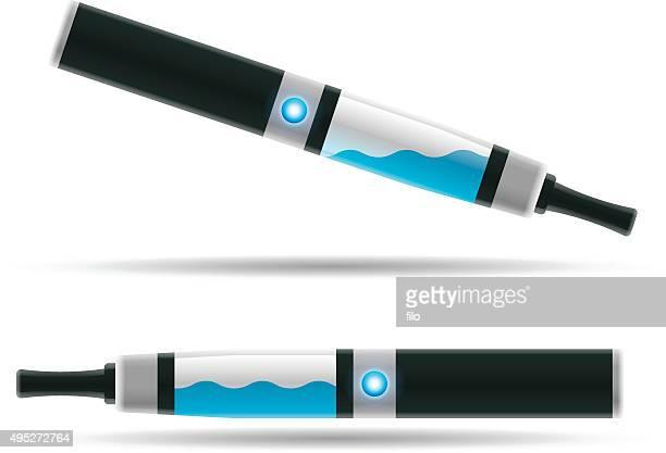 e-cigarettes and vaporizer - electronic cigarette stock illustrations, clip art, cartoons, & icons