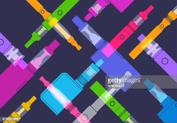 e-cigarettes or vapers - quitting smoking stock illustrations, clip art, cartoons, & icons