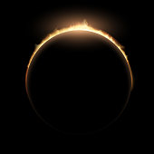eclipse.  Stock illustration.