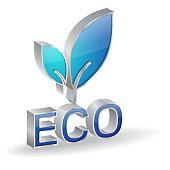 Eco 3d Glossy Vector Icon Design
