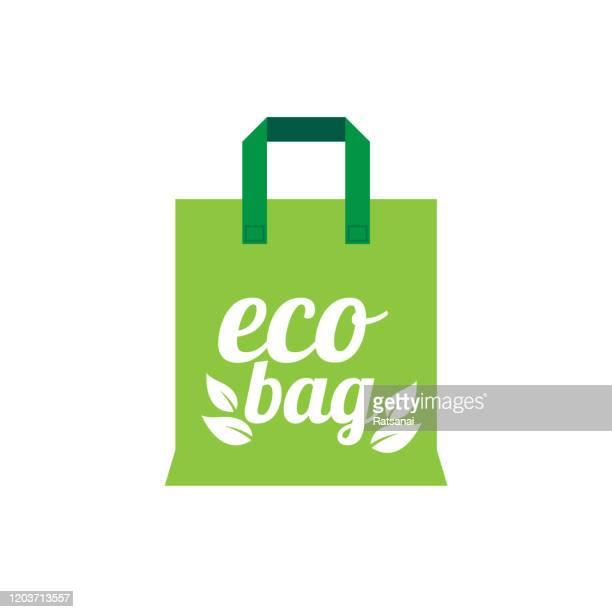eco bag - reusable bag stock illustrations