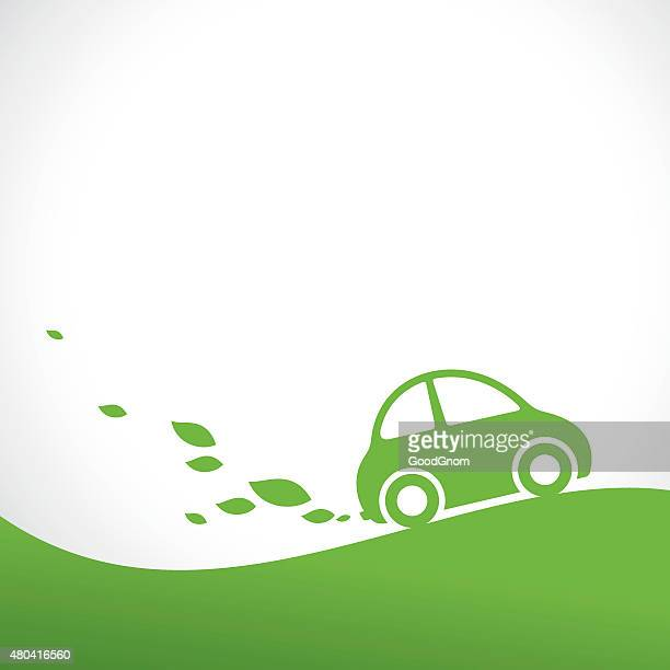 eco car background - hybrid car stock illustrations, clip art, cartoons, & icons