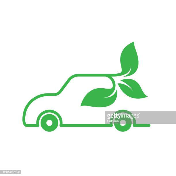 eco car concept - hybrid vehicle stock illustrations