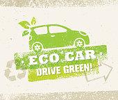 Eco Car Creative Vector Nature Friendly Vehicle Illustration Concept