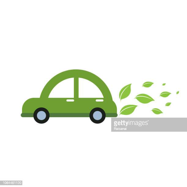 eco car - hybrid car stock illustrations, clip art, cartoons, & icons
