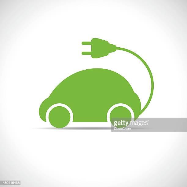 ilustraciones, imágenes clip art, dibujos animados e iconos de stock de eco de - vehículo eléctrico