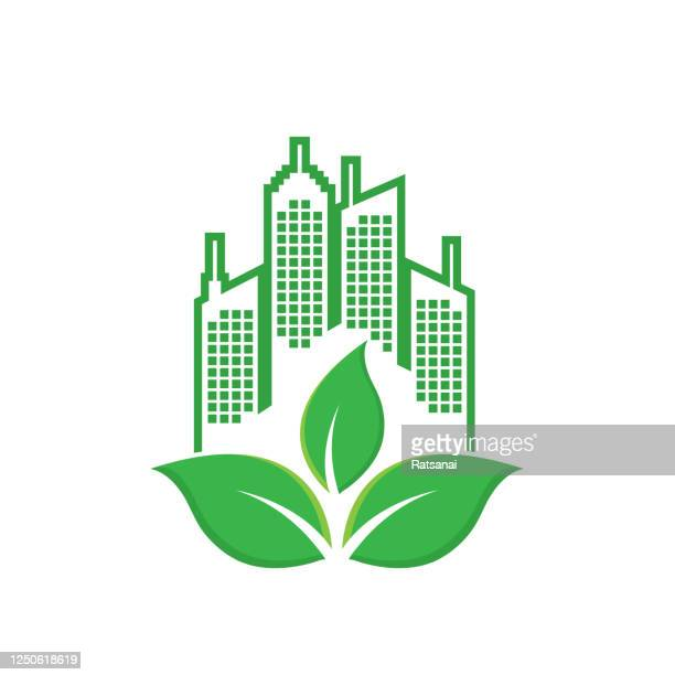 eco city concept - paperboard stock illustrations