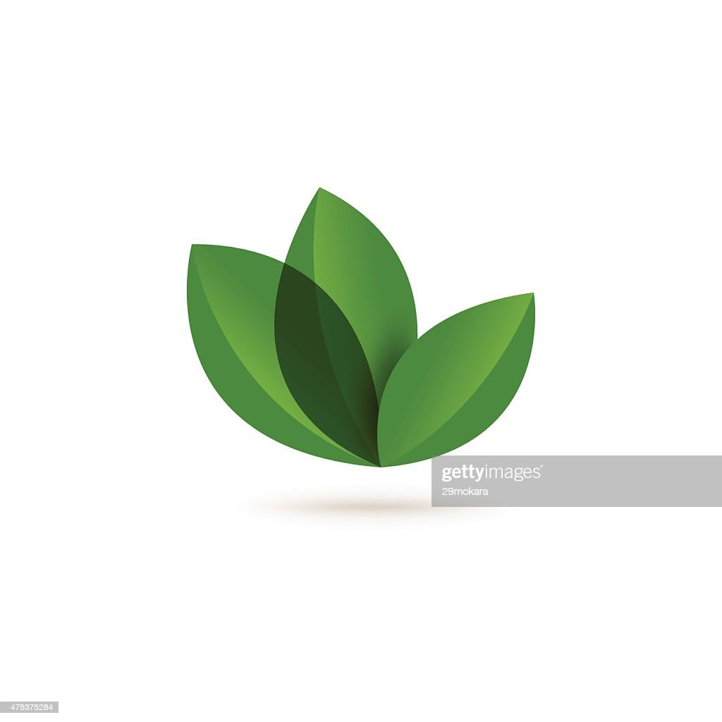 Eco concept with leaf abstract