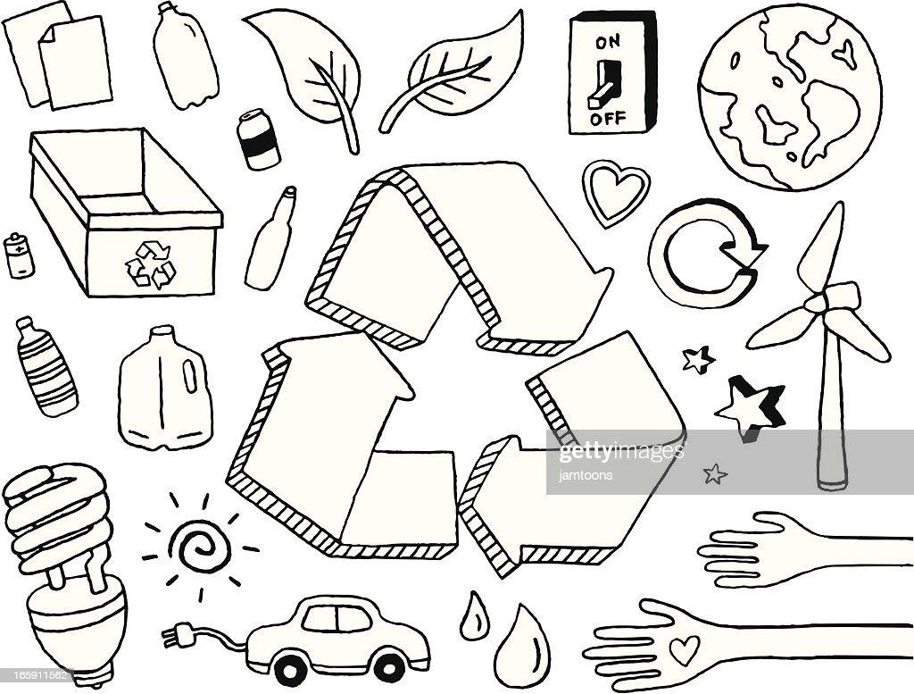 Eco Doodles : Illustrationer