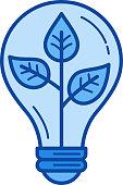 Eco energy line icon