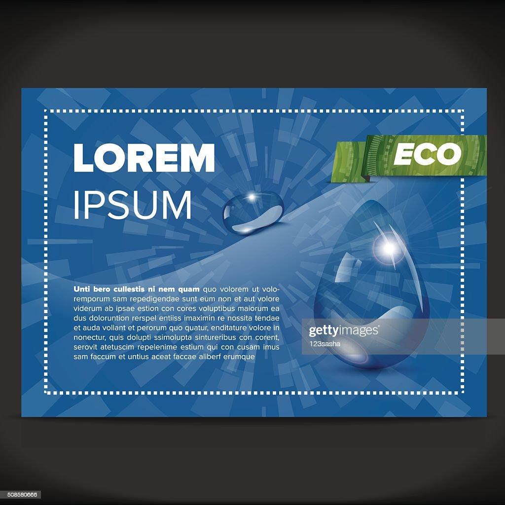 Eco flayer design : Vector Art