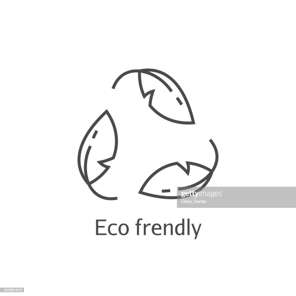 Eco frendly leaves concept icon. Ecology recycling vector symbol.