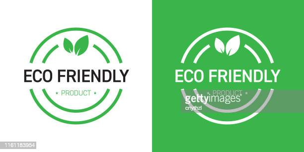 eco friendly badge design - environment stock illustrations