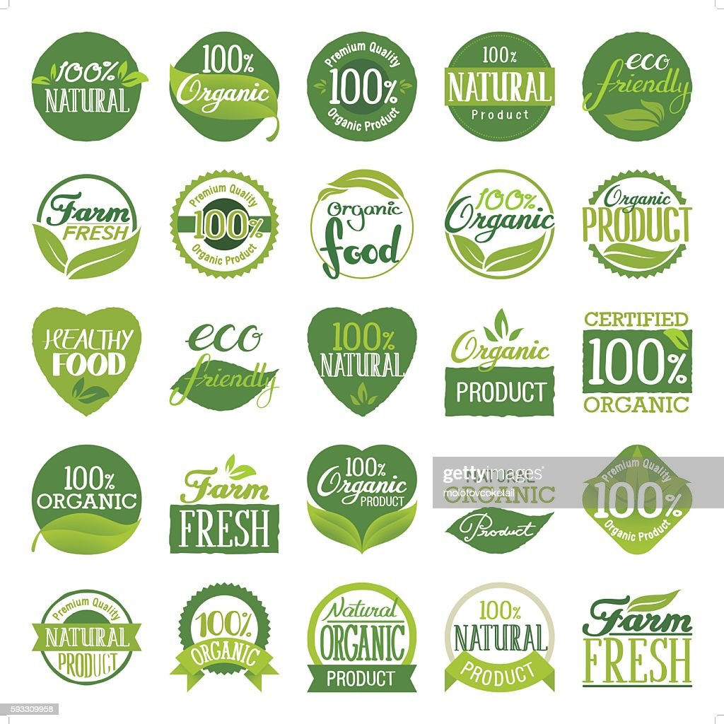 eco friendly & organic icon set