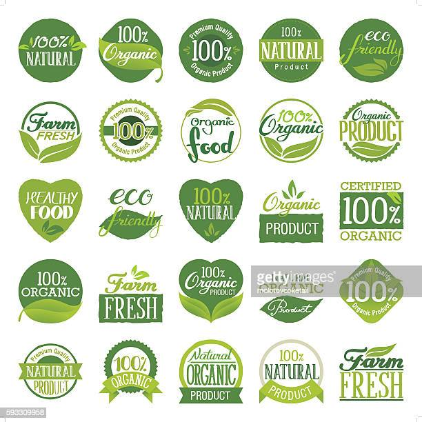 eco friendly & organic icon set - natur stock-grafiken, -clipart, -cartoons und -symbole