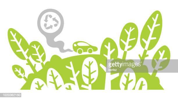 eco friendly - hatchback stock illustrations, clip art, cartoons, & icons