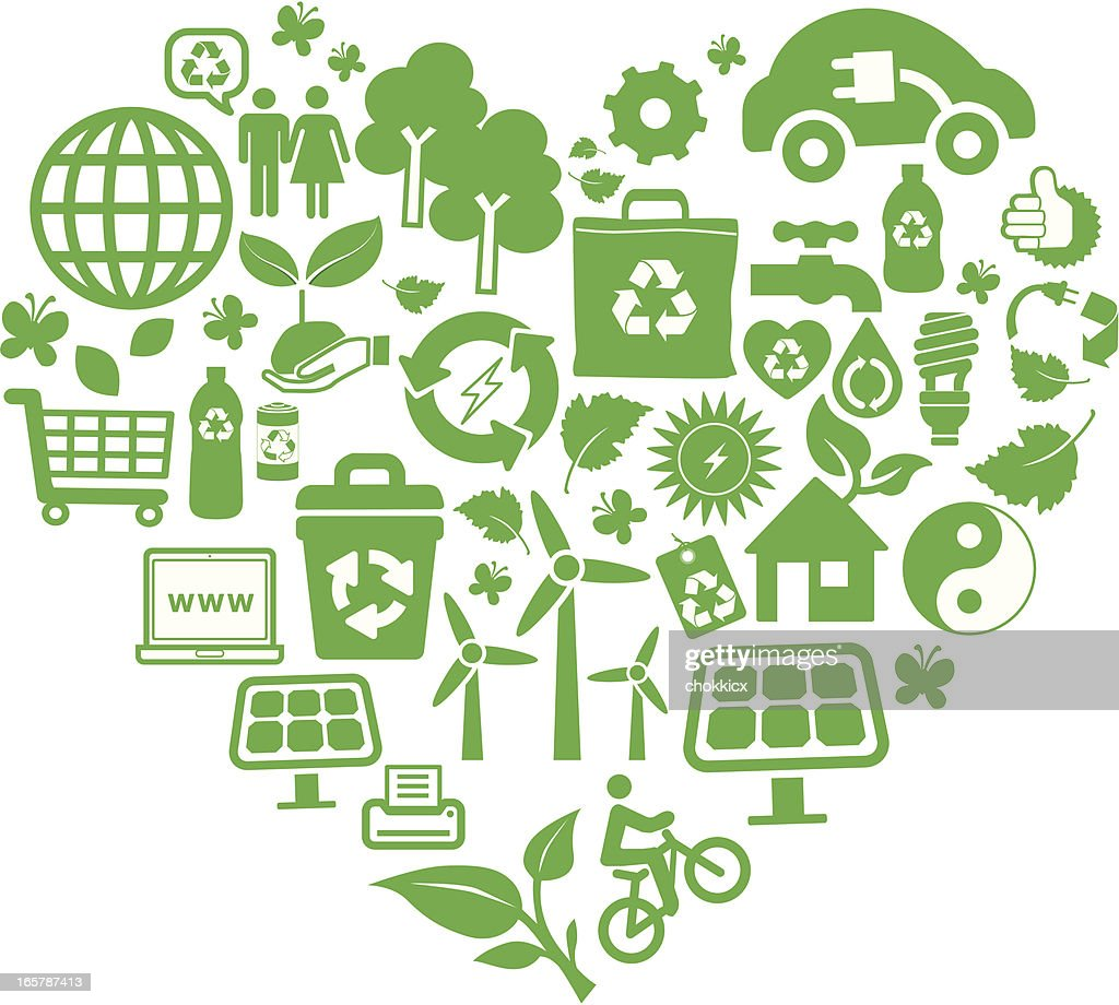 Eco green and recycling symbols montage in heart shape vector art eco green and recycling symbols montage in heart shape vector art buycottarizona Image collections