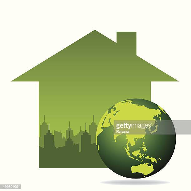 Eco Green Concept Stock Illustration Getty Images