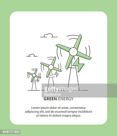 Eco Green Energy Wind Power Station Symbol Of Renewable