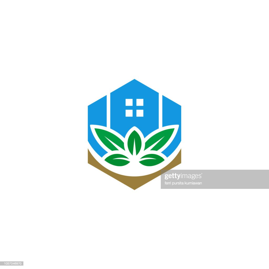 Eco green home icon, House symbol design vector