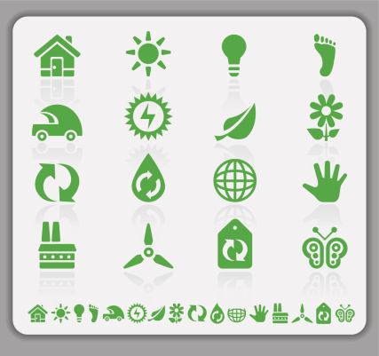 Eco green icons 159243886