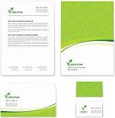 Eco green leaf logo template